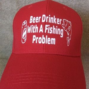 Hat Cap Beer Drinker With A Fishing Problem FUNNY